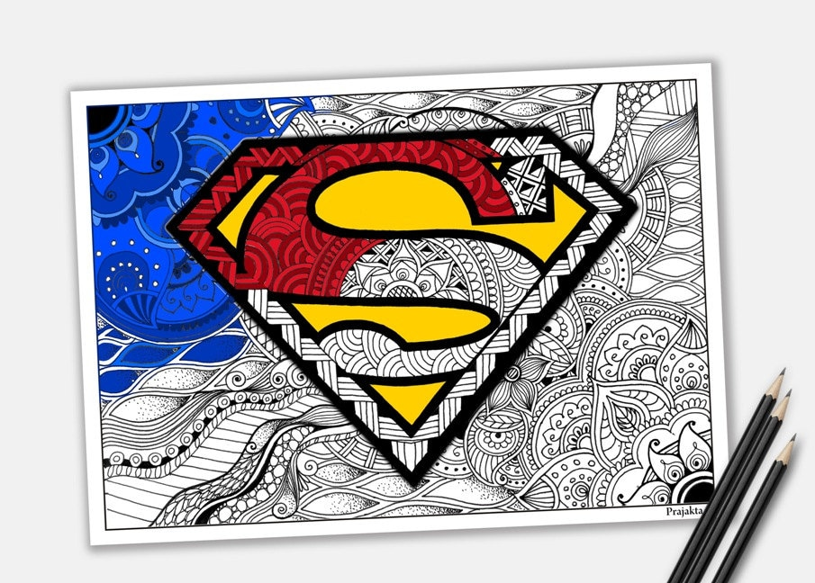 superman malvorlagen zentangle superheld zum ausdrucken