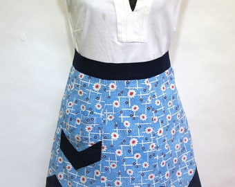 Vintage Cotton Apron 1940's Hand Made