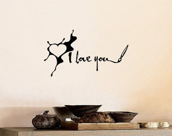 I Love You Paint Splatter Heart Wall Decal Diy Home Decor Quote Wall Decal Motivational Quotes