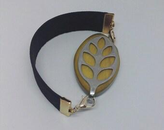 Bellabeat leaf bracelet black elastic strap bracelet to use with Bellabeat leaf, bellabeat anklet, bellabeat strap, anklet