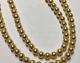 Gold Pearl Swarovski Glass Pearls 4mm 5810 25 pearls