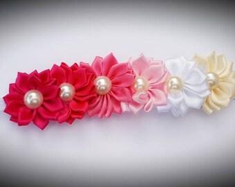Pink ombre kids flower headband
