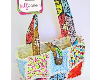 pdf Shabby Bag Sewing Pattern - INSTANT DOWNLOAD!!!
