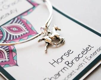 Horse Bracelet - Bangle Intention Bracelet - Totem Animal bracelet - Bangle Animal Charm Braclet
