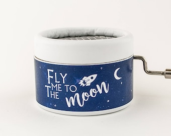 Fly me to the moon Music Box Handcranked for special occasion gift