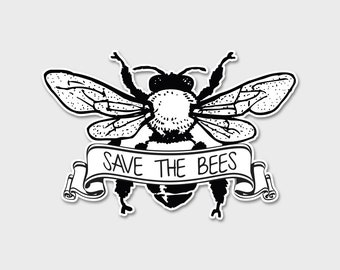 Save The Bees Bumper Sticker Decal