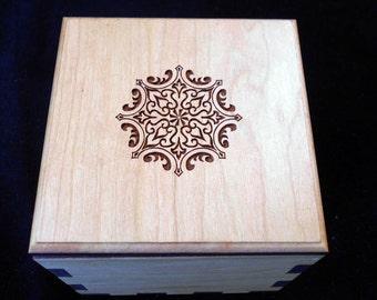 Secret Stash Box Puzzle  - Puzzle Box - Wood Puzzle Box - Stash Box