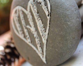 Birch Heart Stone , Woodland Wedding Decoration , Rustic Home Decor , Rustic Reception