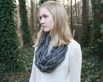 Double Braided Crochet Collar Scarf - Many Colors Available