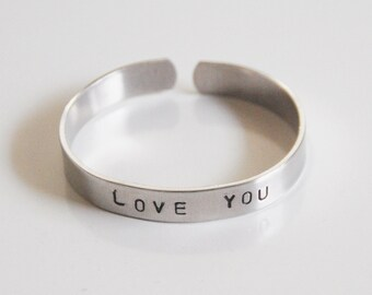 Custom Personalized Handstamped Cuff  Bracelet- Men's Bracelet- Personalized Initial Bracelet- Men's Accessories- valentine's Day.
