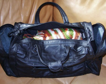 Leather, Bag, weekender, overnight bag, Black, Overnighter, Duffel, travel