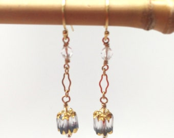 Crystal Cathedral Glass Drop Earrings