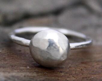 Fine Silver Pebble Ring