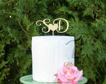 Wedding Cake Topper l Initials Cake Topper l Personalized Wedding Cake Topper l Engagement Cake Topper l Monogram Cake Topper