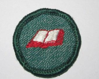 "Vintage Intermediate Girl Scout Badge ""Bookbinding"" circa 1950's"
