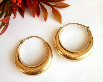 Hoop Earrings, Brass Earrings, Tribal Earrings, big hoop Earrings, Boho Earrings. Indian Earrings. Ethnic Earrings. Plain Earrings. N3