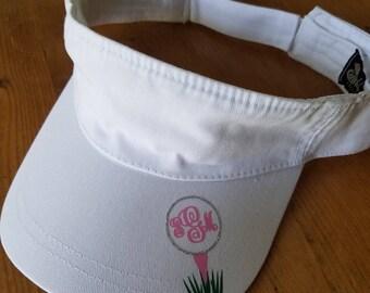 Golf Visor, personalized visor, personalized golf visor