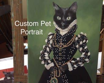 Cat Custom Portrait, Cat Portrait, Custom Pet Portrait, Custom Pet Painting