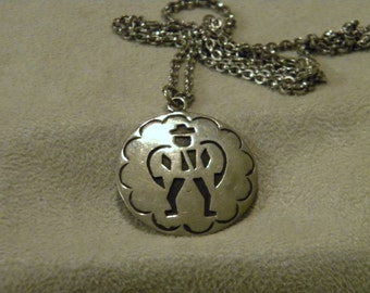 Sterling Silver Chain with Overlay Design Pendant