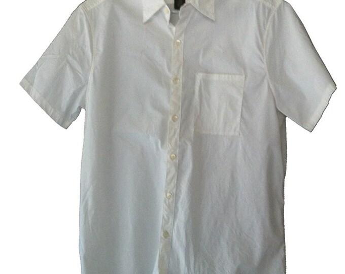 Banana Republic Stretch Classic Short Sleeve Men's Large Dress Shirt