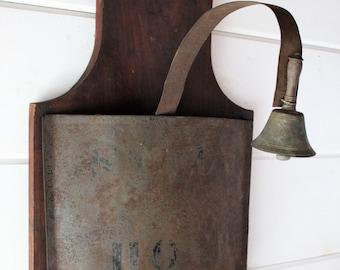 1800's Primitive School Bell - Study Hour - The Green Mountain Perkins Academy - Vermont - American Folk Art