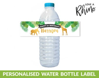 Jungle/ Safari/ Zoo Printable Water Bottle Label