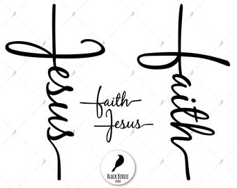 Faith cross svg, jesus cross svg, faith svg, Jesus svg, Jesus clipart, faith clipart, christian svg cricut – eps, dxf, png, pdf, svg files