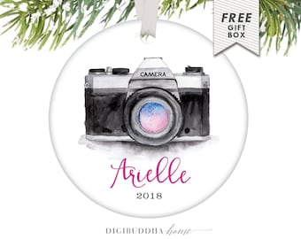 Photographer Ornament Personalized Ornament Photography Ornament Photographer Gift Custom Camera Ornament 2016 Photography Gift Shoot People
