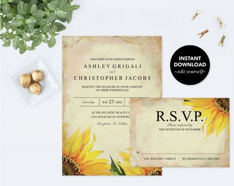 We Eloped Invitation, Editable Text PDF Template, Acrobat Were Eloping, We Got Hitched Announcement Rustic Elopement Reception Only