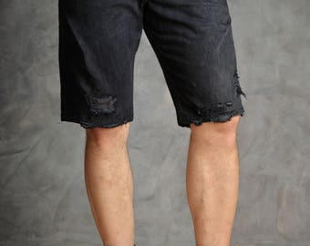 Vintage 90's Mustang Distressed Denim Shorts
