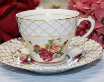 PRINCESS Porcelain Teacup and Saucer Set