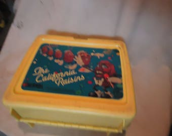 Vintage 1987 The California Raisins Plastic Lunch Box, NoThermos, Lunchkit, collectable