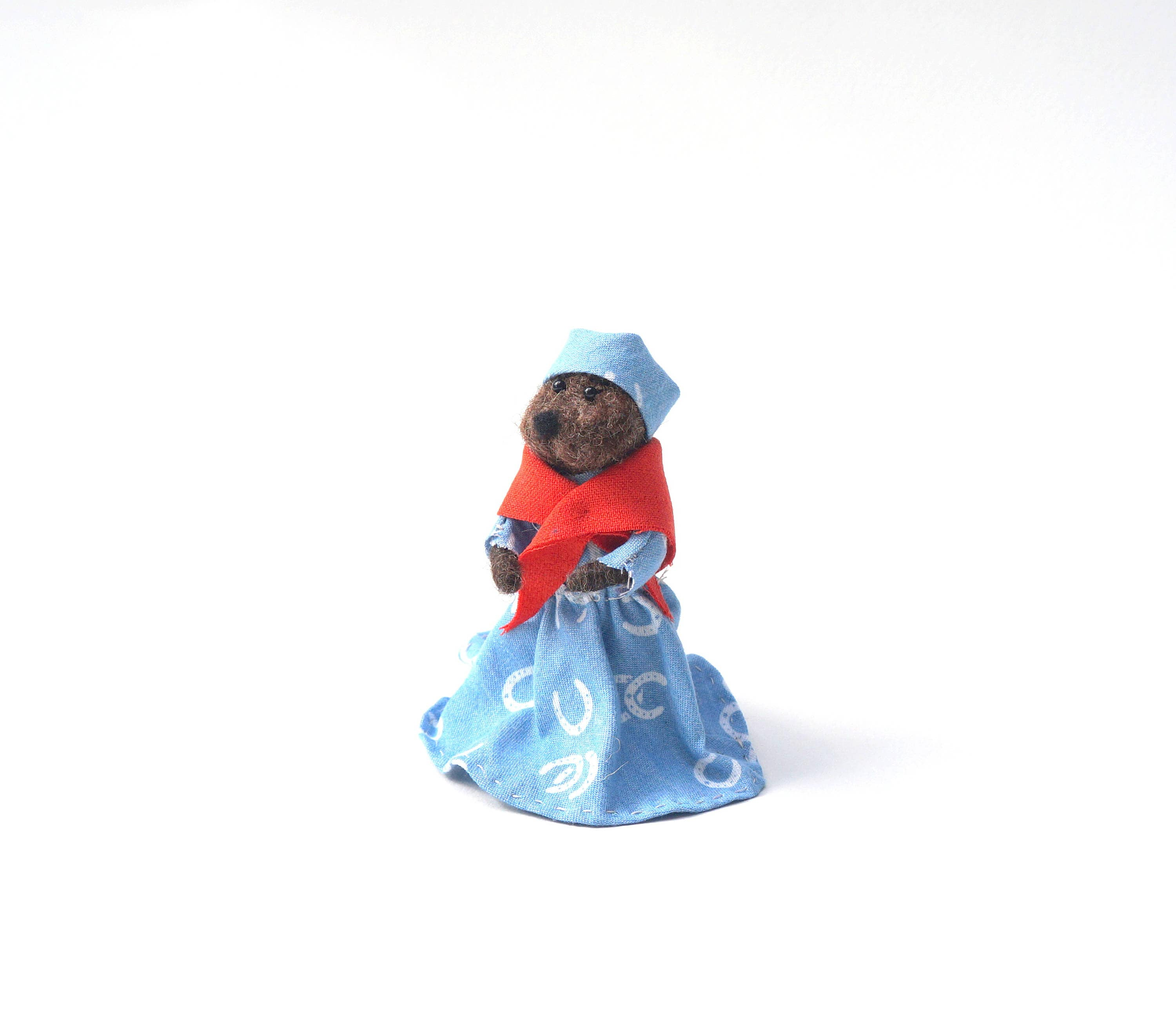 Emmett Otter S Jugband Christmas: Felted Mother Otter Christmas Muppet Emmet Otter's