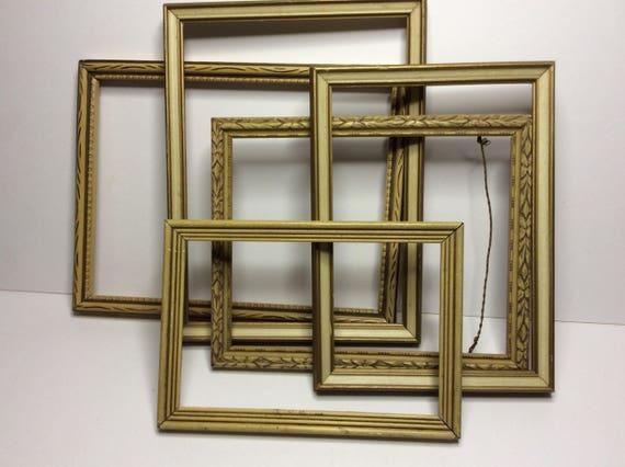 Art Deco Vintage (5) Frames, 1920s Pressed Wood Photo Picture Frame ...