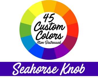 45 CUSTOM COLORS Seahorse Pull, Seahorse Knob, Nautical Decor, Beach Decor, Beach Bath, Coastal Decor, Nautical Nursery - NONDISTRESSED