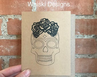 Sugar Skull A2 Greeting Card
