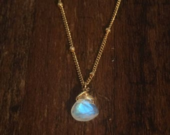 Moonstone gold filled necklace