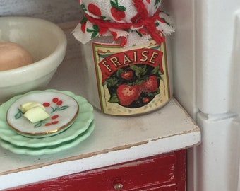 Miniature Vintage styled baking mix canister