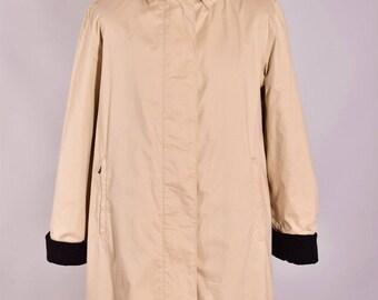 Women's Burberry London Vintage Long Coat Jacket Size 42 XL Genuine Casual