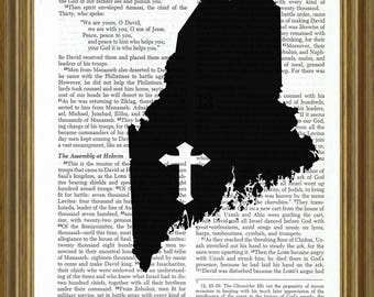 Maine silhouette on Bible page