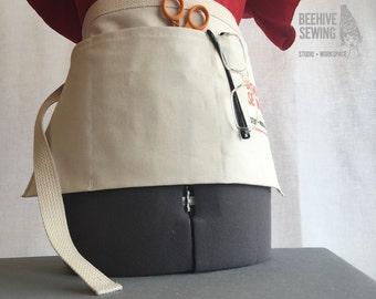 Organic Cotton Canvas Utility Apron Tool Belt DIY Kit for Machine Sewing
