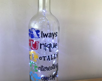 Autism light up bottle