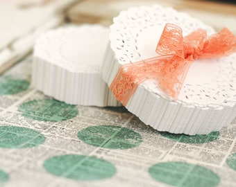 500 Lace Paper Doilies 4 inch - Paper Doily - White Lace Paper Doily - Bulk Paper Doily - Wholesale Paper Doily - Pretty Packaging