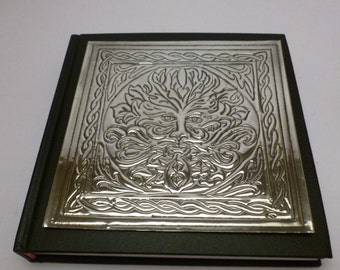 Green Man Journal with Pewter Detail