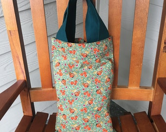 Pumpkins Print Tote Trick-or-Treat Bag 9.5 x 15, Free Shipping in the USA