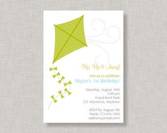 Kite Invitation, Kite Birthday Invitation, Kite Party, Park Party
