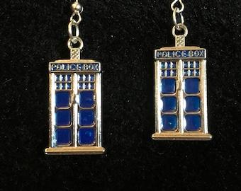 Doctor Who TARDIS Earrings
