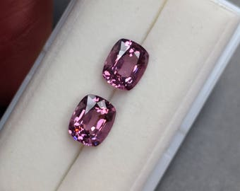 2=3.20 Carat Cushion Cut Orchid Color Spinels from Burma
