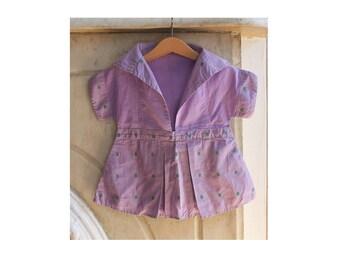 Vintage Clothespin Bag Dress, Purple Laundry Pin Holder, Girl Dress Laundry Line