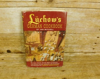Luchow's German Cookbook by Jan Mitchell 1965 Restaurant Cooking Baking Recipes